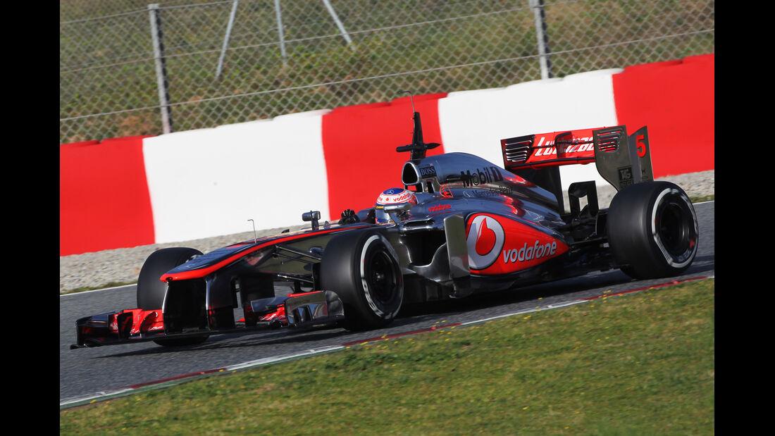 Jenson Button - McLaren - Formel 1 - Test - Barcelona - 3. März 2013