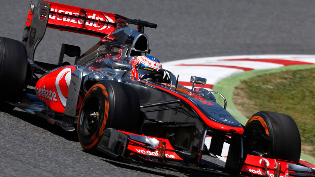 Jenson Button McLaren GP Spanien 2013