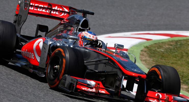 Jenson Button McLaren GP Spanien 2013