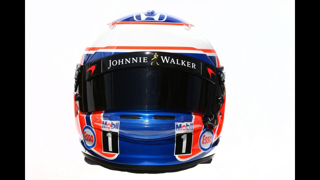 Jenson Button - McLaren - Helm - Formel 1 - 2016