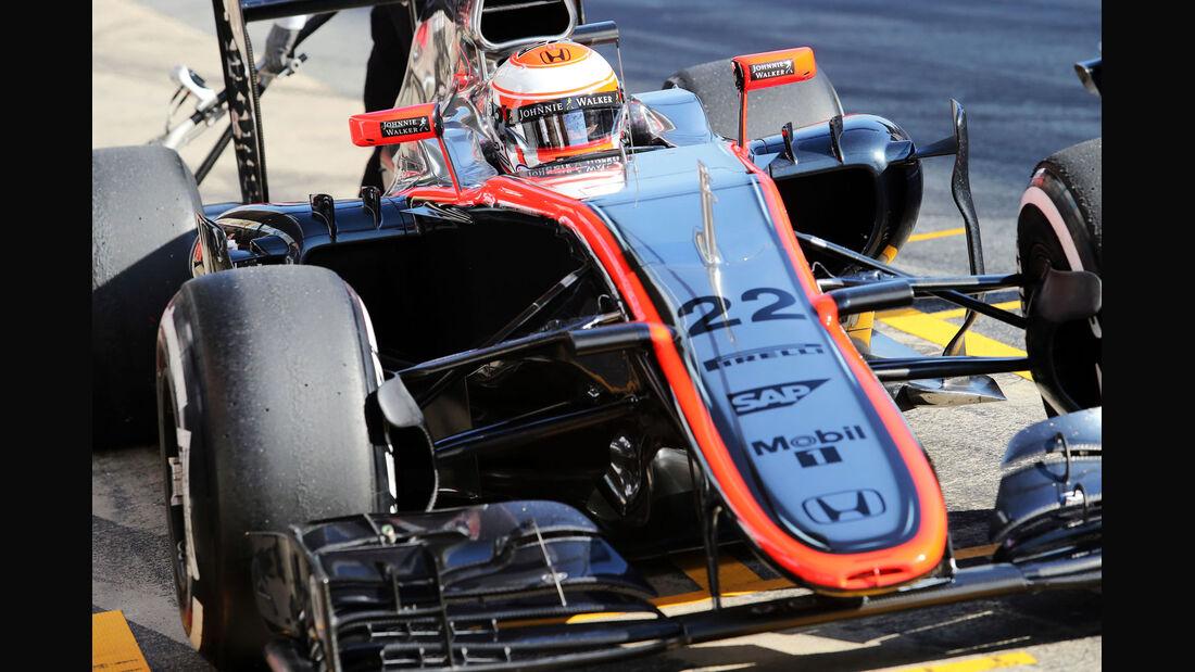 Jenson Button - McLaren-Honda - Formel 1-Test - Barcelona - 19. Februar 2015