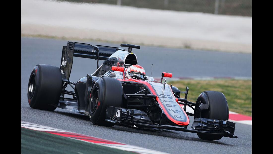 Jenson Button - McLaren-Honda - Formel 1-Test - Barcelona - 27. Februar 2015