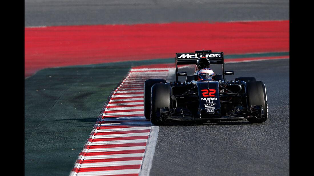 Jenson Button - McLaren-Honda - Formel 1-Test - Barcelona - 4.3.2016