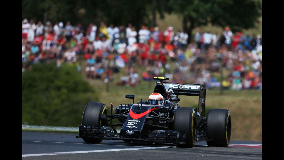 Jenson Button - McLaren-Honda - GP Ungarn - Budapest - Rennen - Sonntag - 26.7.2015