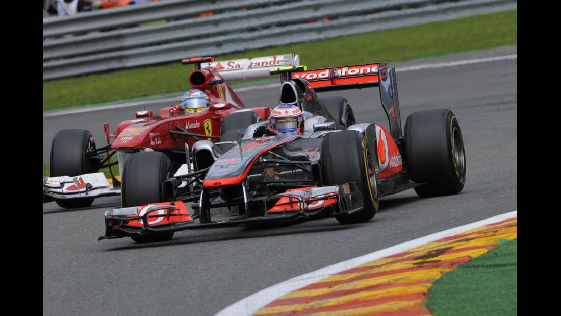 Jenson Button Rennen GP Belgien 2011
