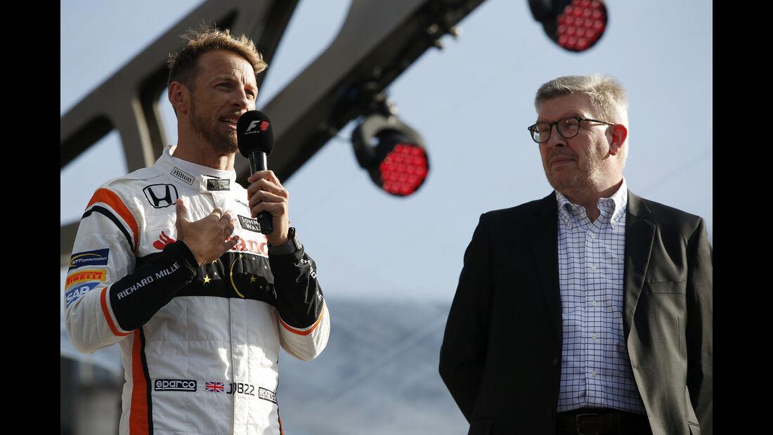 Jenson Button  & Ross Brawn - F1 Live Show - London - 2017