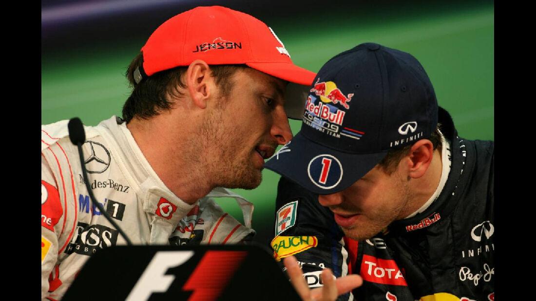 Jenson Button - Sebastian Vettel  - Formel 1 - GP Japan - 9. Oktober 2011