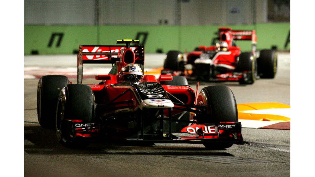 Jerome D'Ambrosio Virgin GP Singapur 2011