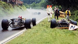 Jo Siffert & Graham Hill - Rouen - Formel 1 - GP Frankreich 1968