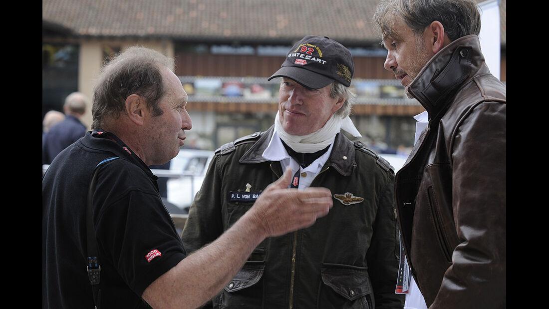 Jochen Maas, Prinz Leopold v. Bayern und BMW Group Designchef Adrian van Hooydonk auf der Mille Miglia 2010