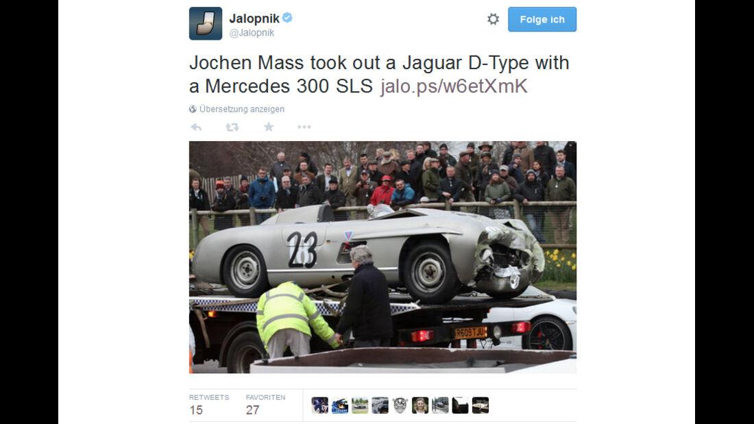 Jochen Mass - Mercedes 300 SL - Crash  - Goodwood 2015