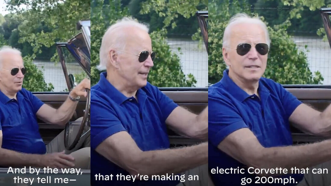 Joe Biden Corvette Electric