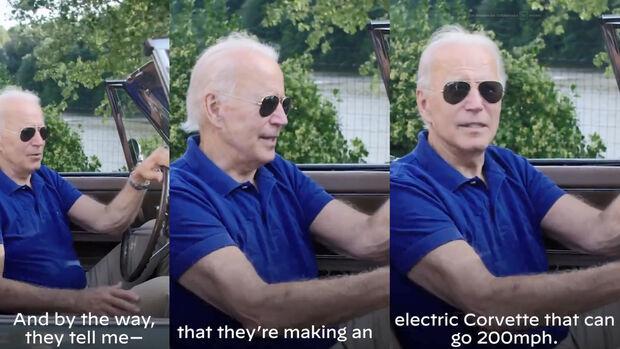 Joe Biden Corvette Electric