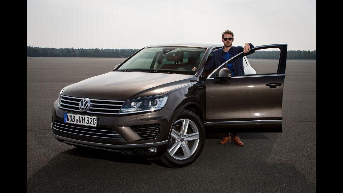 Johannes Strate mit VW Touareg