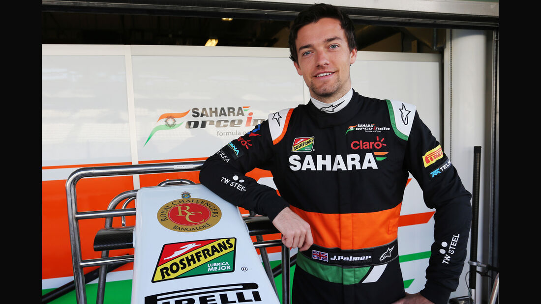 Jolyon Palmer - Force India - Formel 1 Test - Abu Dhabi - 25. November 2014