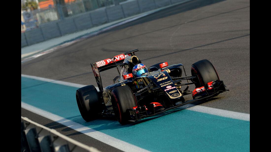 Jolyon Palmer - Lotus - F1 Test - Abu Dhabi - Dienstag - 1.12.2015