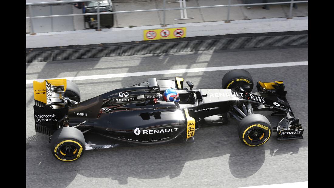 Jolyon Palmer - Renault F1 - Formel 1-Test - Barcelona - 23. Februar 2016