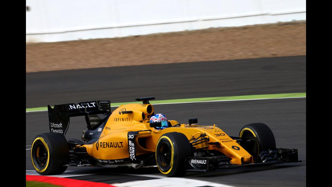 Jolyon Palmer - Renault - Formel 1 - Silverstone-Test - 13. Juli 2016