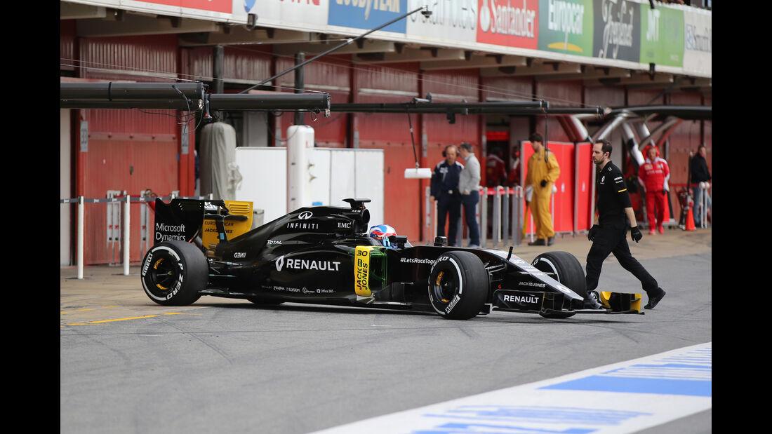 Jolyon Palmer - Renault - Formel 1-Test - Barcelona - 3. März 2016