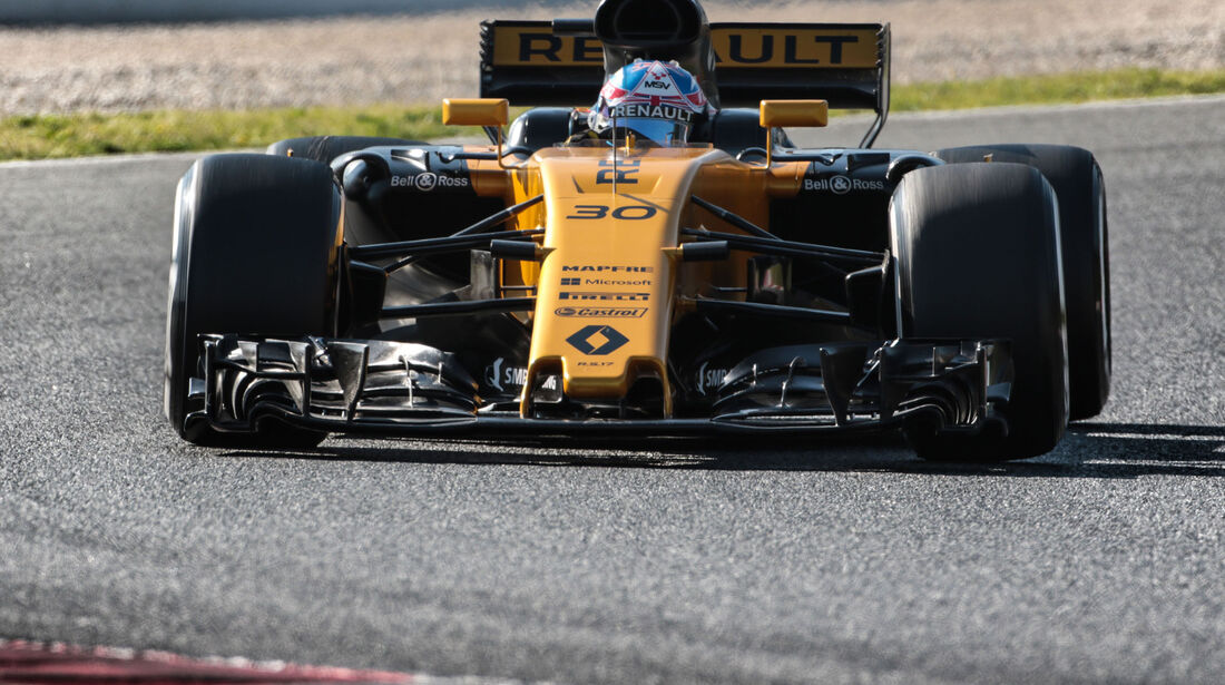 Jolyon Palmer - Renault - Testfahrten - Barcelona - Freitag - 10.3.2017