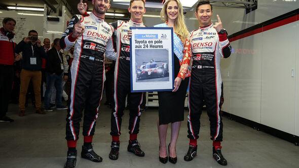 Jose Maria Lopez - Mike Conway - Kamui Kobayashi - Toyota - 24h-Rennen Le Mans 2019 - Qualifying