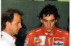 Josef Leberer & Ayrton Senna - 1988