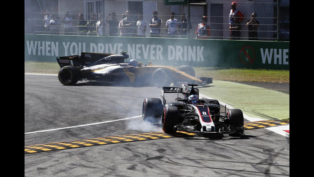 Joylon Palmer & Romain Grosjean - GP Italien 2017