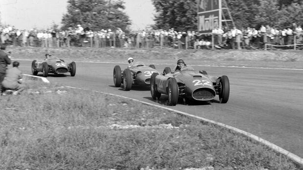 Juan Manuel Fangio - Lancai-Ferrari D50 - GP Italien 1956