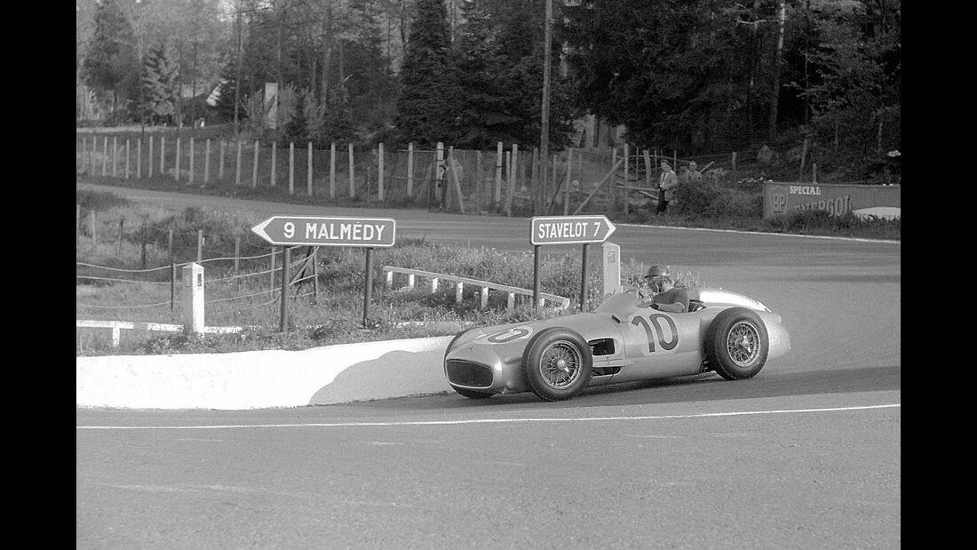 Juan Manuel Fangio - Mercedes-Benz W 196 R - GP Belgien 1955