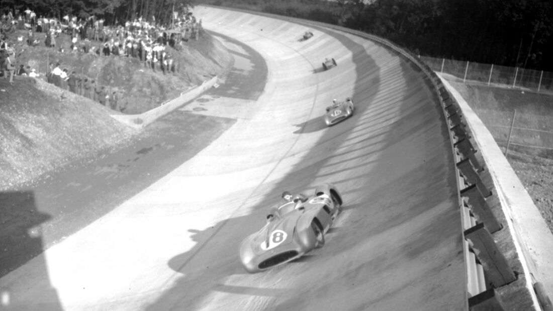 Juan Manuel Fangio - Mercedes-Benz W196R - GP Italien 1955 - Monza