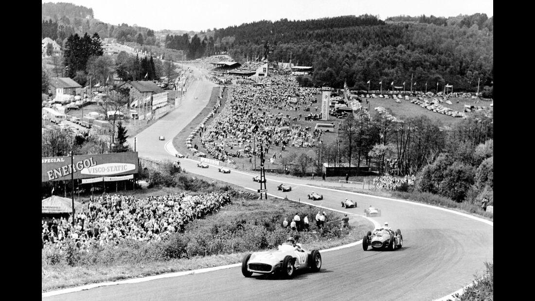 Juan Manuel Fangio - Mercedes W 196 R - GP Belgien 1955