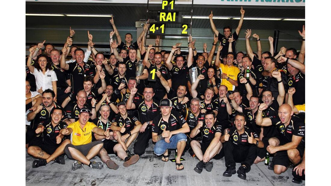 Jubel Lotus  - Formel 1 - GP Abu Dhabi - 04. November 2012