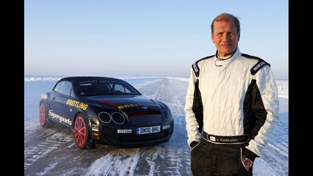 Juha Kankkunen, Rekordfahrt, Bentley Continental Supersports Convertible ISR, Finnland
