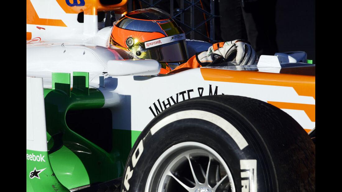 Jules Bianchi, Force India, Formel 1-Test, Jerez, 8. Februar 2013