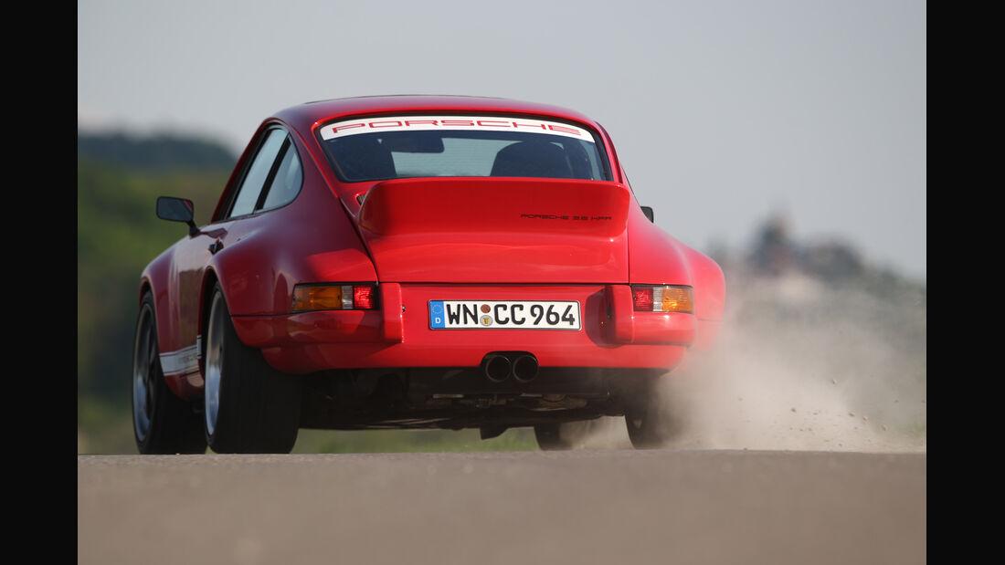 K & F-Porsche 911, Heckansicht