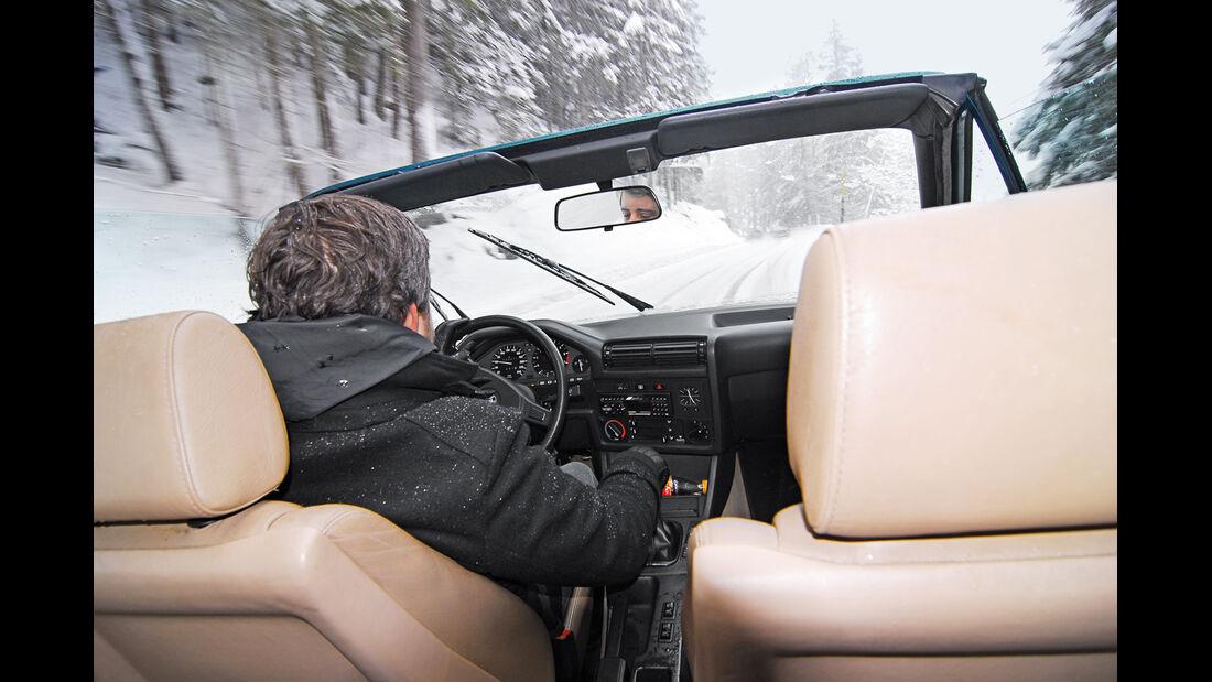 KISS-Ausfahrt, BMW 318i Cabrio, Cockpit