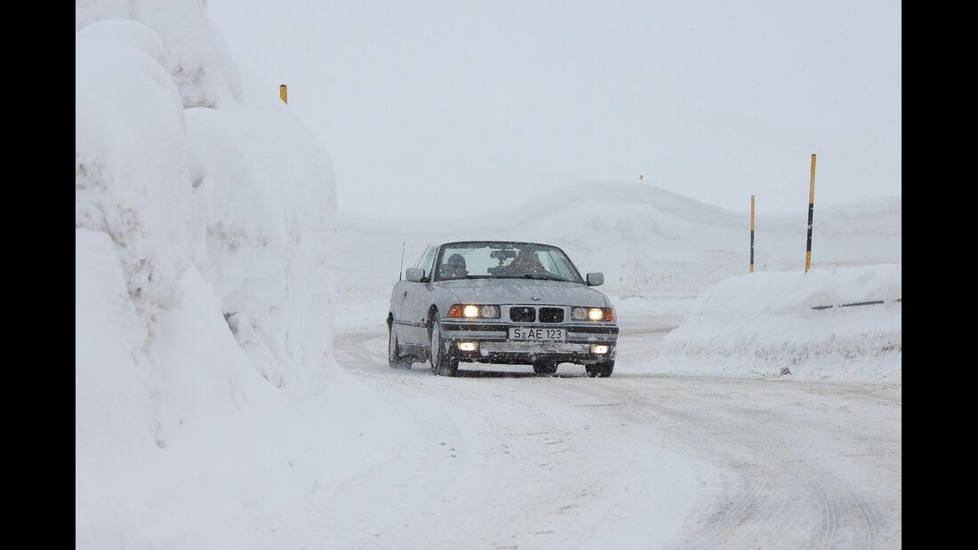 KISS-Ausfahrt, BMW, Schnee
