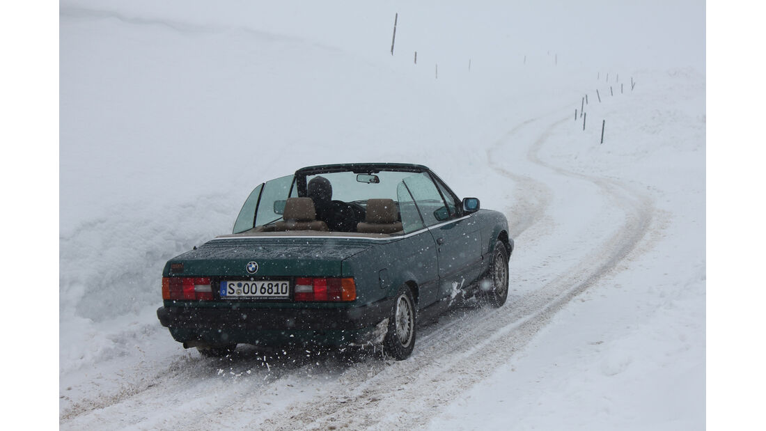 KISS-Ausfahrt, Jaufenpass, BMW 318i