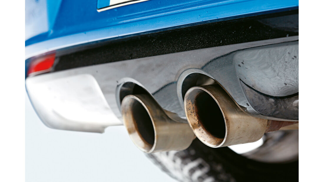 KL Racing-VW Golf R, Auspuff, Endrohre