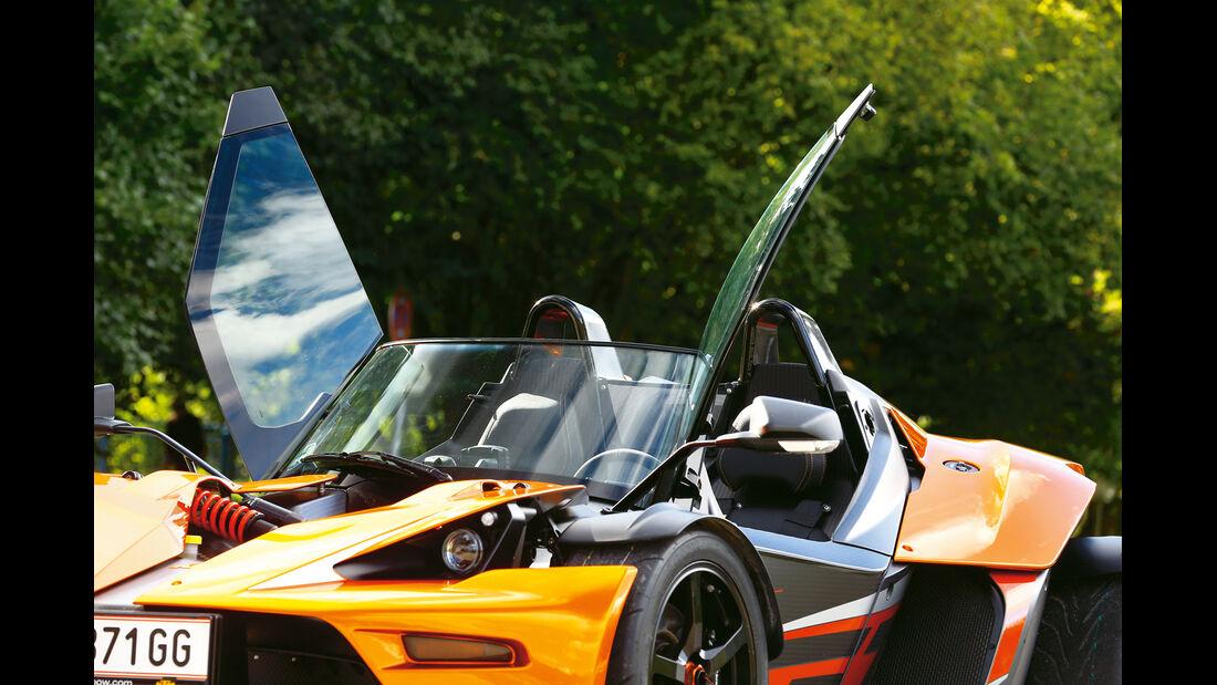 KTM X-Bow GT, Scherentüren, Flügeltüren