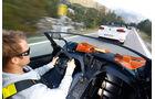 KTM X-Bow GT, VW Golf R Cabriolet, Fahrersicht