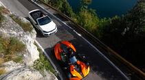 KTM X-Bow GT, VW Golf R Cabriolet, von oben