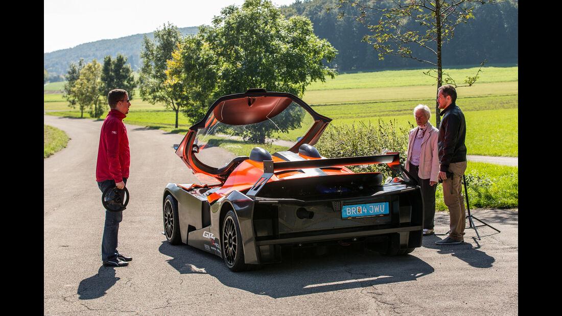 KTM X-Bow GT4, Heckansicht