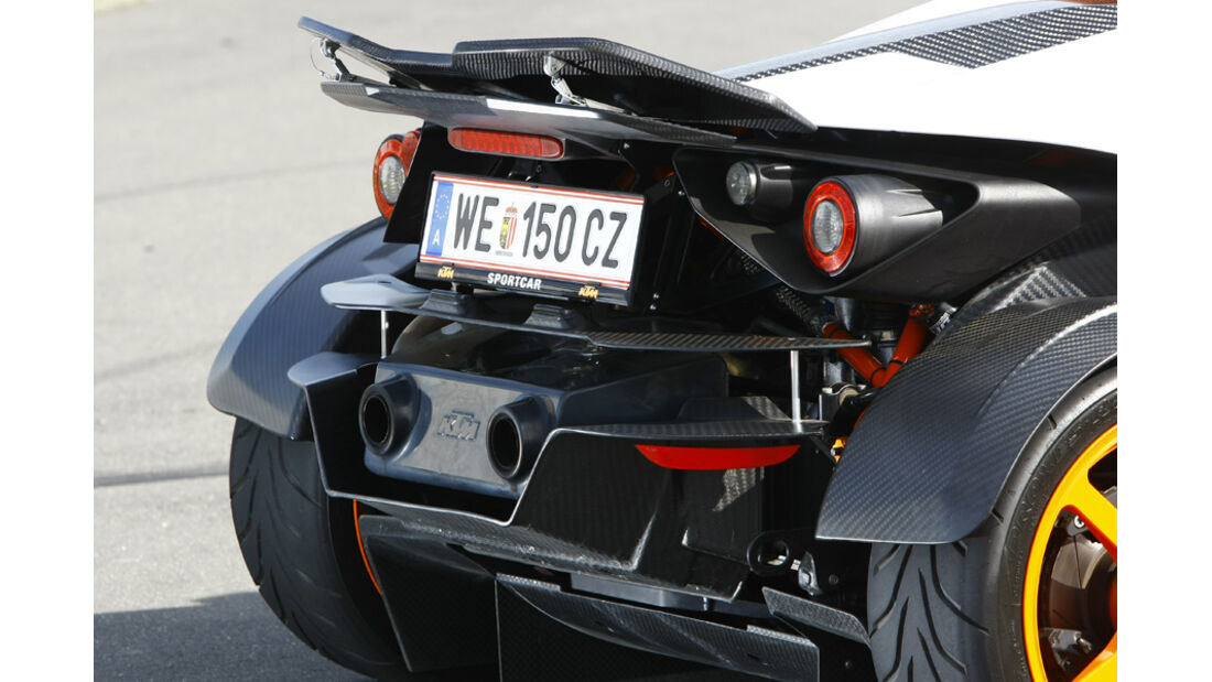 KTM X-Bow R Prototyp, Heck