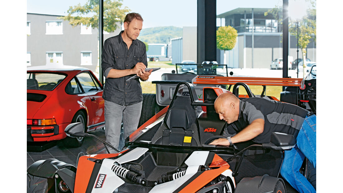 KTM X-Bow R, Verkaufsraum