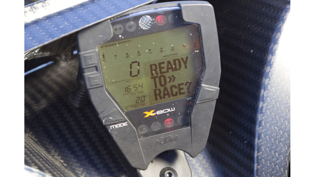 KTM X-Bow, Tacho