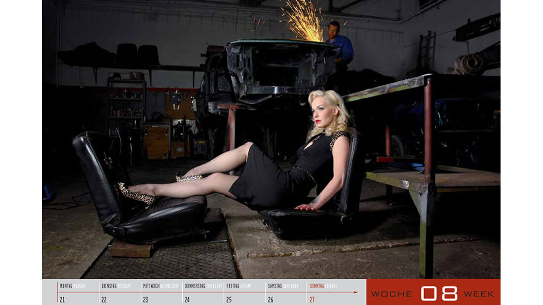 Kalender 2011 Girls and legendary US-Cars
