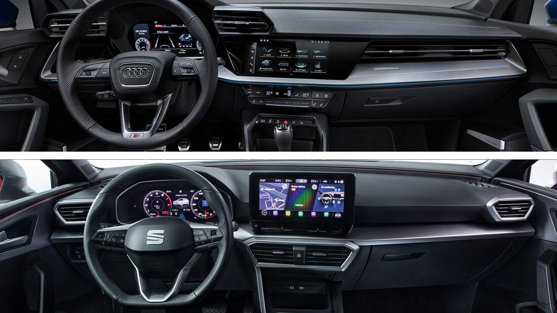 Kaltvergleich Audi A3 Seat Leon 2020