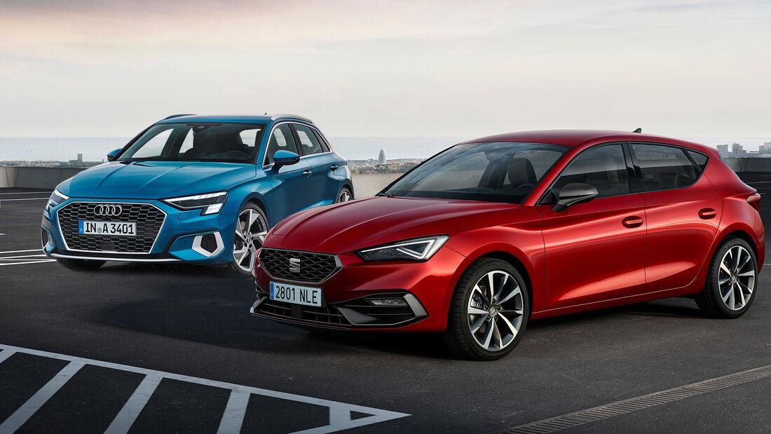 Kaltvergleich Genf 2020 Audi A3 Seat Leon