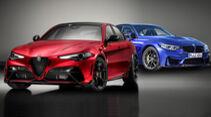 Kaltvergleich Genf 2020 BMW M3 CS Alfa Romeo Giulia GTA